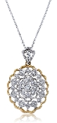 0.31 ct. t.w. Diamond Filigree 18K Gold Pendant