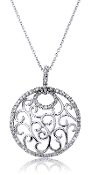0.41 ct. t.w. Pave Diamond 'Circles of Life' 14K Gold Pendant