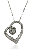 0.20 ct. t.w. Diamond 'Hugs around the Heart' Slide Pendant