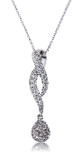 0.25 ct. t.w. Diamond Infinity Teardrop 14K Gold Slide Pendant