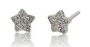 0.03 ct. t.w. Diamond Starry 14K Gold Stud Earrings