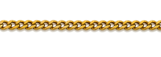 Solid Unisex 21 Inch 18K Gold 1.9mm Curb Link Chain