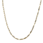 20 Inch 1.9mm 14K Two-tone Closed Mirror Link Chain