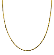 24 Inch 18K Gold 1.5mm 'S' Link Chain