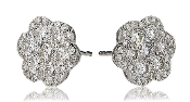 2.44 ct. t.w. Diamond Flower Cluster Stud 14K Gold Earrings