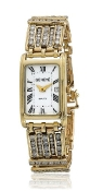 GENEVE 12.96 TCW DIAMOND 14K Yellow Gold Ladies watch White Dial