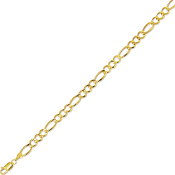 Solid 14 Karat Gold 6.0 mm Classic Figaro Chain