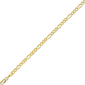 Solid 14 Karat Gold 3.8 mm Classic Figaro Chain