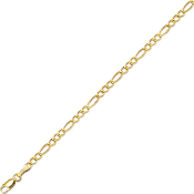 Solid 14 Karat Gold 3.1 mm Classic Figaro Chain