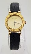 Tiffany & Co Atlas Watch 18k Yellow Gold Original Lizard Strap