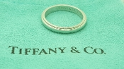 Tiffany & Co Platinum 3mm Milgrain Wedding Band Size 7 PT950 T&C
