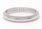 Tiffany & Co Platinum Wedding Band T & Co Milgrain Platinum Ring
