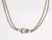 Sterling Silver Tiffany & Co Love Knot Double Rope Necklace