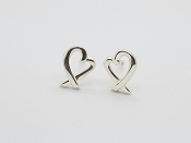 Tiffany & Co Paloma Picasso Loving Heart Stud Earrings Sterling