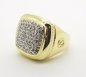 David Yurman 18K Gold 1.0 TCW Diamond Albion Cable Ring Size 7.5