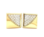 0.50tcw Diamond L&M Cuff Links 14K Yellow Gold VS2 G