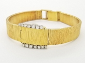 Chopard 18k Yellow Gold Watch L.U.C. Diamond Bracelet
