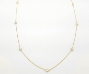 Diamonds by the Yard Station Necklace 0.85 tcw 14K Gold 17.75""