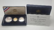 US Mint Proof Gold $5 Silver $1 WW II 50th Anniversary Coin Set