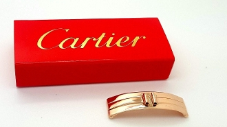 Cartier 18K Rose Gold Triple Deployment Fold-over Clasp Only