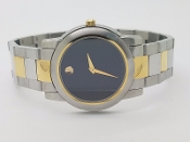 Mens Movado Museum Junior Sport 81.E4.1893 SS Gold Tone Watch