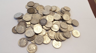 40 Washington Quarters 25C 90% SILVER $10.00 Mixed Year Mints
