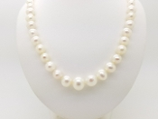 "14K Gold Graduated Freshwater Pearl Princess Necklace 18"" w Box"