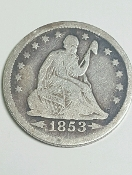 1853-O 25C Arrows and Rays Liberty Seated Quarter