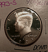 1993-S Kennedy 50C Proof DCAM 90% Silver