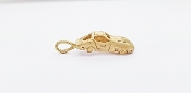 14K Yellow Gold Retro Style Corvette Sports Car Charm Pendant
