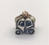 Pandora Royal Carriage Charm Silver &14K Gold with Pearl #790598
