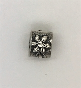 Pandora Poinsettia Flower Charm #790213 Sterling Silver 925