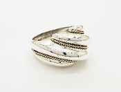 Tiffany & Co Sterling Silver 925 & 14K Gold Shrimp Style Ring