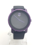 Movado Bold Black Dial Purple Unisex Watch MB.01.1.22.6075