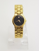 Movado Museum Dial Gold Toned Stainless Steel Watch 87.A1.821