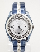 Brighton Dark Blue Resin Dana Point Swarovski Crystal Watch
