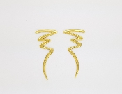 Tiffany & Co Paloma Picasso Scribble Zig Zag 18K Gold Earrings