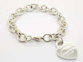 Sterling Return to Tiffany & Co Heart Tag Chain Link Bracelet