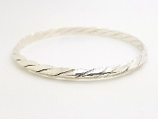 Tiffany & Co Sterling Silver Twisted 5mm Bangle Bracelet