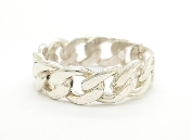 14K Gold Cuban Link Ring (Yellow or White Gold)