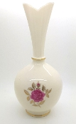 Lenox Collectible Tall Rose Bud Vase with 24K Gold Trim