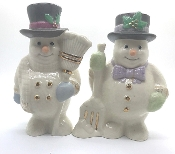 Lenox Collectible Holiday Snowman Salt & Pepper Shakers