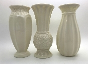 Lenox Collectible Set of 3 Small Vases with Gold Trim