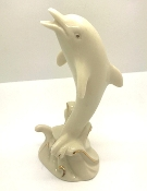 Lenox Collectible Ivory Dolphin Figurine with Gold Accents