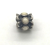 Pandora Forget Me Not Charm White Agate Sterling #790470AGW