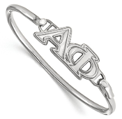 Sterling Silver Alpha Phi Sorority Bangle Bracelet