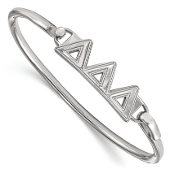 Sterling Silver Delta Delta Delta Sorority Bangle Bracelet