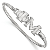 Sterling Silver Phi Mu Sorority Bangle Bracelet