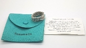 Tiffany & Co Somerset Mesh Ring 925 Sterling Silver w Pouch 7.25