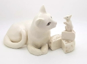 Lenox Collectible Making Friends Cat and Mouse Figurine